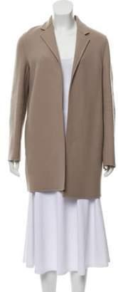Ralph Lauren Wool-Blend Open Front Coat Beige Wool-Blend Open Front Coat