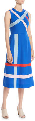 Novis Sleeveless A-Line Striped Merino Wool Dress