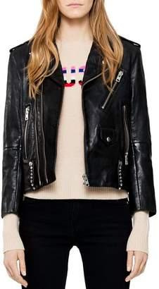 Zadig & Voltaire Liya Studded Leather Jacket