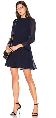 Line & Dot Renee Babydoll Dress in Navy $110 thestylecure.com