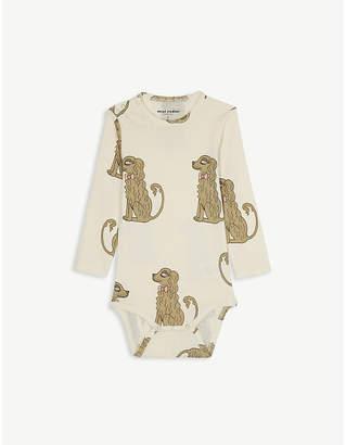 Mini Rodini Spaniel print organic cotton bodysuit 1-18 months