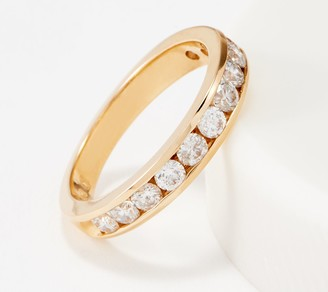 Affinity Diamond Jewelry Affinity 14K Gold Channel Set Diamond Band Ring, 1.00 cttw
