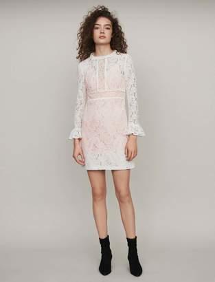 Maje Short guipure lace dress