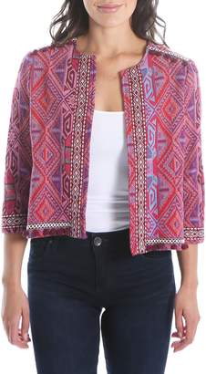 KUT from the Kloth Gwyneth Embellished Collarless Jacket