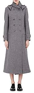 Yohji Yamamoto Regulation Women's Wool Felt Hooded Coat-Grey