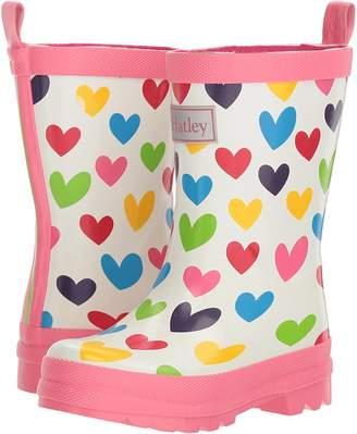 Hatley Rainbow Hearts Rain Boots Girls Shoes