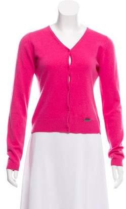 Versace Cashmere Button Front Cardigan