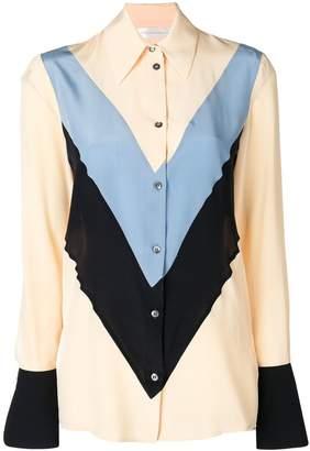 b7e7846a95cd03 Victoria Victoria Beckham chevron stripe shirt