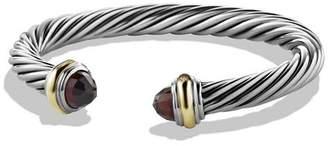 David Yurman Cable Classics Bracelet with Garnet & 14K Gold