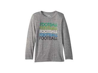 Chaser Kids Soft Tri-Blend Football Long Sleeve Crew Neck Tee (Little Kids/Big Kids)