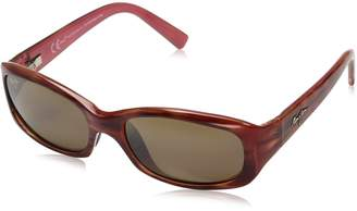 Maui Jim Women's Polarized Punch Bowl H219-12 Brown Rectangle Sunglasses