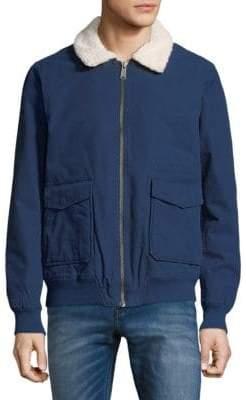 Tavik Houghton Sherpa Accented Full Zip Cotton Jacket