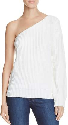 Olivaceous One Shoulder Sweater $68 thestylecure.com