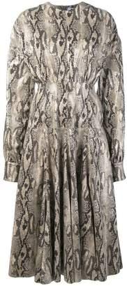 MSGM snakeskin effect dress