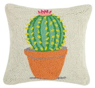 Bungalow Rose Kerby Festival Potted Cactus Hook Throw Pillow