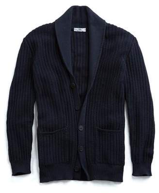 Inis Meáin Linen Beach Cardigan in Navy