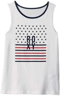 Roxy Kids Precious Hearts Stars and Stripes Tank Top Girl's Sleeveless