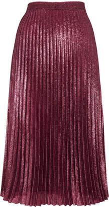 Whistles Kitty Metallic Pleated Skirt