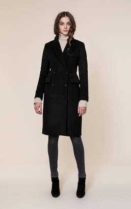 Soia & Kyo LORENZA double-breasted classic wool coat with notch collar