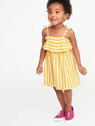 5e17852a5 Old Navy Printed Jersey Ruffled Fit & Flare Dress for Toddler Girls