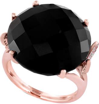 Effy Fine Jewelry 14K Rose Gold 18.37 Ct. Tw. Diamond & Onyx Ring