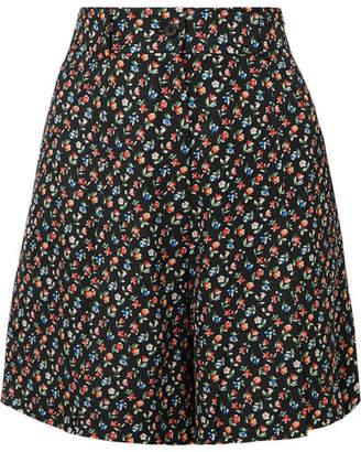 Paul & Joe Jomega Floral-print Poplin Shorts - Black