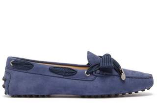 Tod's Gommini Nubuck Loafers - Womens - Navy