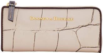 Dooney & Bourke Large Croc Zip Clutch