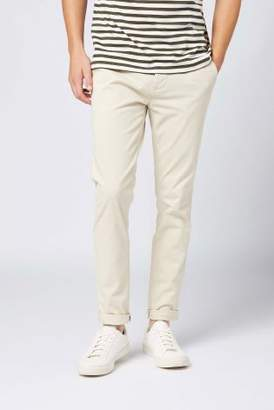 Next Mens Oatmeal Skinny Fit Stretch Chinos