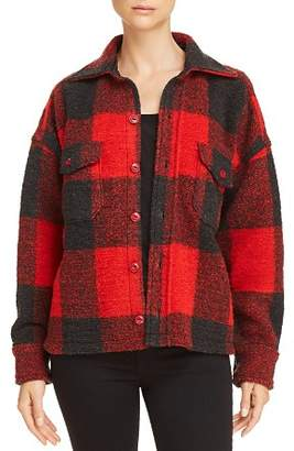 Anine Bing Bobbi Plaid Flannel Jacket