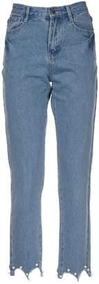 Jovonna Embellished Cuff Skinny Jeans