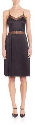 MICHAEL Michael KorsMichael Kors Collection Chantilly-Trim Silk Slip Dress