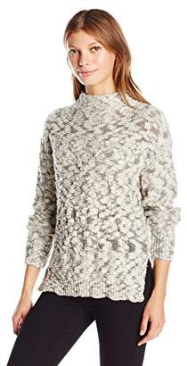 Michael Stars Women's Cotton Nub Cabled Turtleneck Pullover