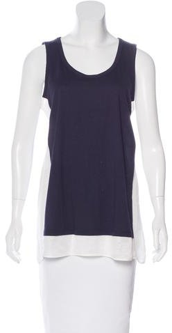 Clu Clu Sleeveless Paneled Top