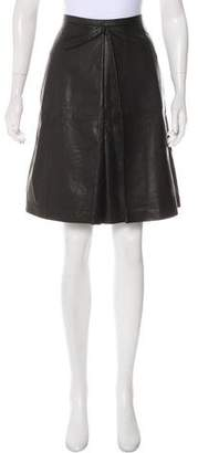 June A-Line Leather Skirt