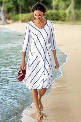Soft Surroundings Linen Beachy Dress