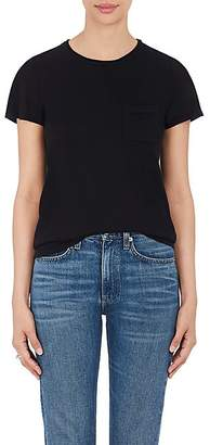 Barneys New York Women's Silk-Cashmere Short-Sleeve Sweater - Black