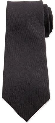 Burberry Tonal-Check Silk Tie, Black $190 thestylecure.com