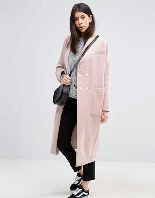 Asos Swing Coat In Wool Mix