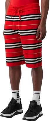 Burberry Merino Wool Jacquard Knit Shorts