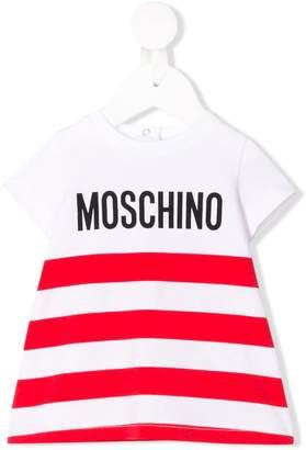 Moschino Kids striped logo top