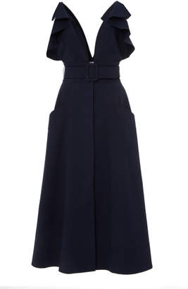 Oscar de la Renta Tea Length Dress
