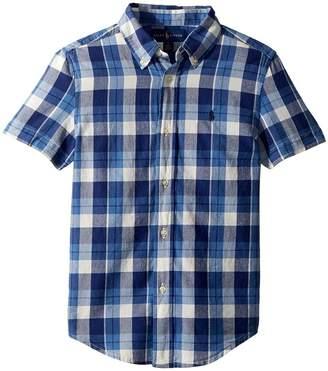 Polo Ralph Lauren Cotton Madras Sport Shirt Boy's Clothing