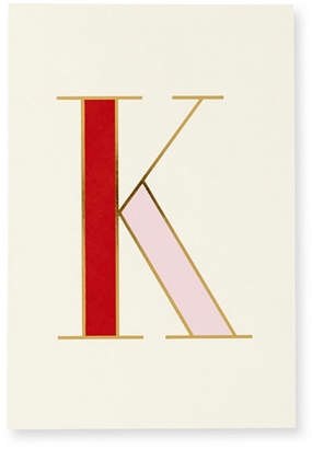 Jonathan Adler Kate Spade New York It's Personal Initial Collection Notepad, K