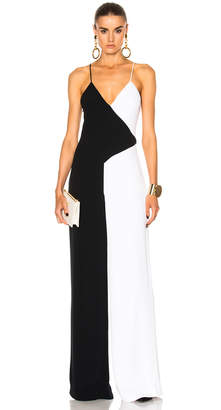 Cushnie Two Tone Wide Leg Jumpsuit