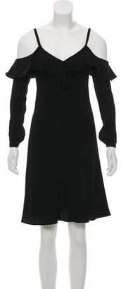 A.L.C. Felicia Cold Shoulder Ruffle Crepe Dress w/ Tags
