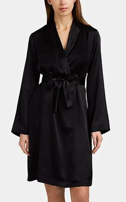 La Perla Women's Silk Satin Robe - Black