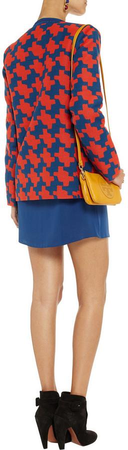 Diane von Furstenberg Matthew checked brushed-twill coat