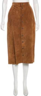 Ralph Lauren Leather Midi Skirt