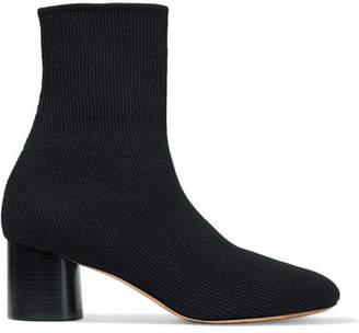 Vince Tasha Stretch-knit Sock Boots - Black